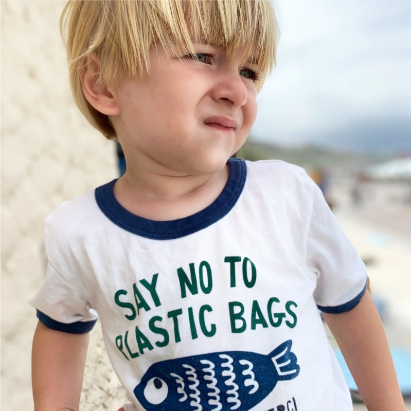 """T-shirt """"SAY NO TO PLASTIC BAGS"""""""